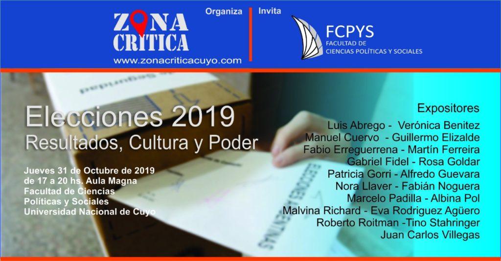 ELECCIONES 2019: RESULTADOS, CULTURA Y PODER