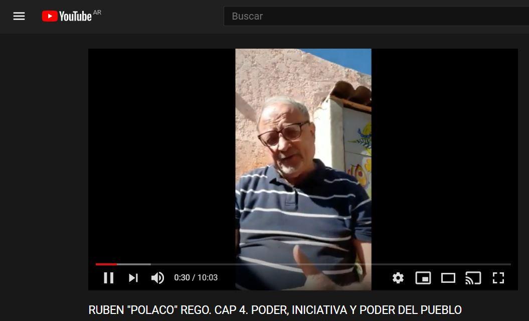 """RUBEN """"POLACO"""" REGO. CAP 4. PODER, INICIATIVA Y PODER DEL PUEBLO"""