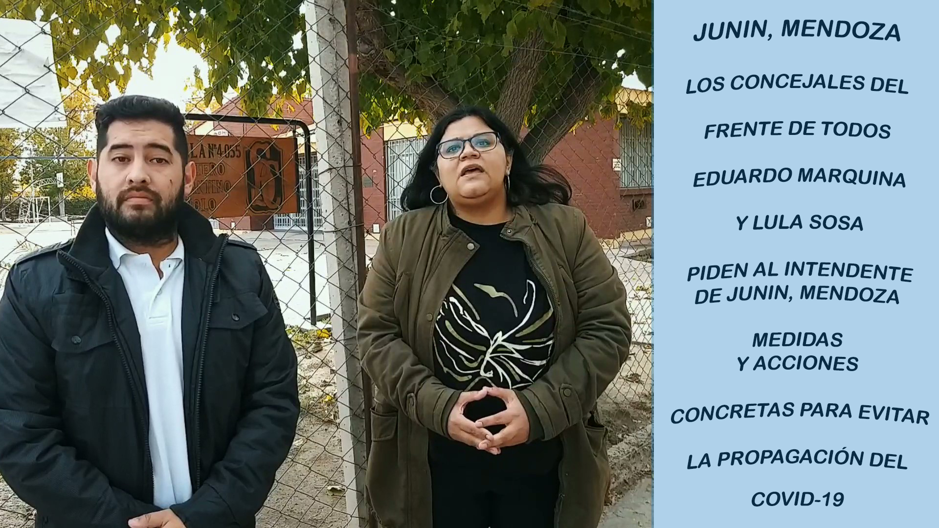 CONCEJALES DE JUNIN, MENDOZA; RECLAMAN ACCIONES Y COMPROMISO AL INTENDENTE PARA COMBATIR EL COVID 19